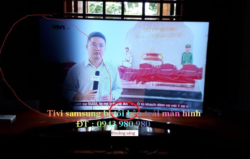bảo hành tivi samsung bị tối màn hình