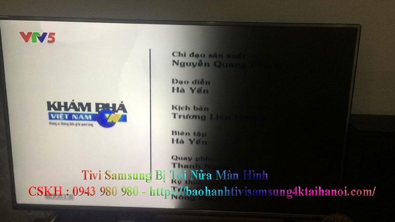 tivi samsung bị tối nửa màn hình