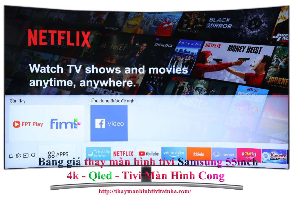 bảng giá thay màn hình tivi samsung chính hãng